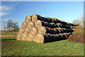 SP3306 : Straw bales near Moulden's Wood by Martin Loader