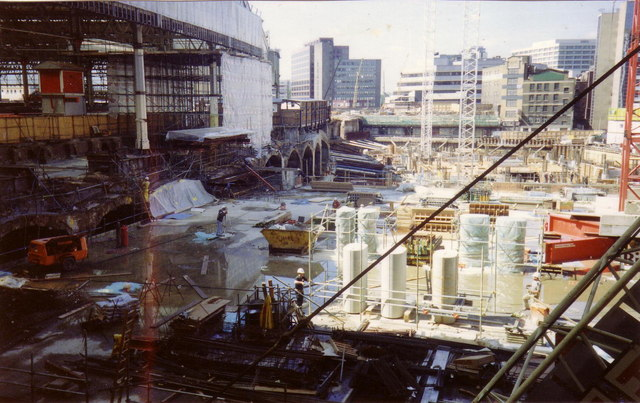 Waterloo - Eurostar terminal development in 1991