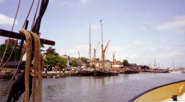 Maldon waterfront seen from the river.