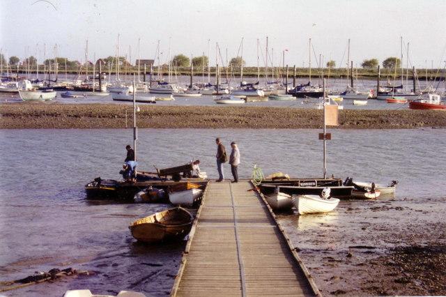 Landing stage at Brightlingsea, 1992