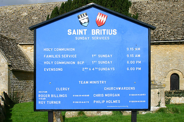 Brize Norton church notice