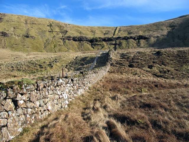 Wall below Bealach Leacaich