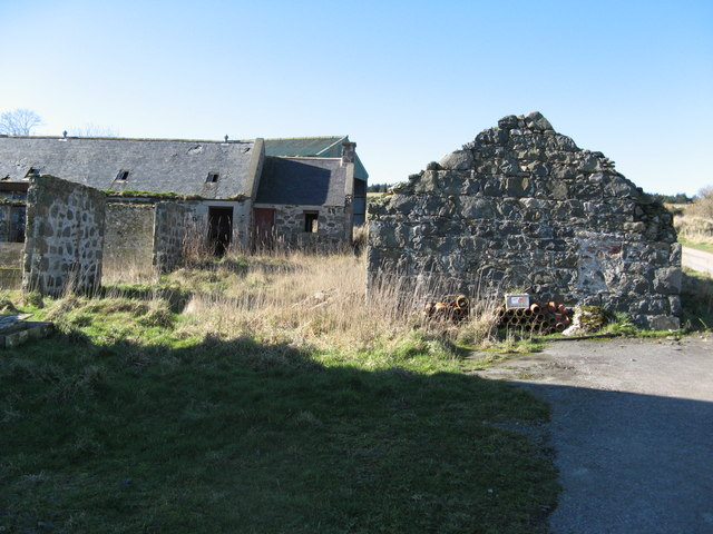 Derelict Farm Buildings at South Hillside near Fordyce
