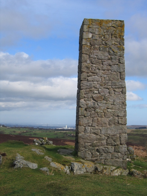 Lead Mines Chimney above Rhydtalog