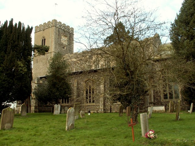 All Saints church at Dickleburgh, Norfolk