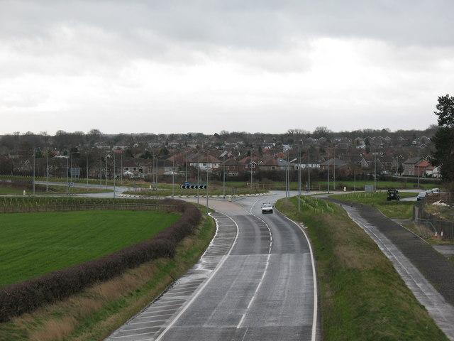 New roundabout at Kirk Deighton