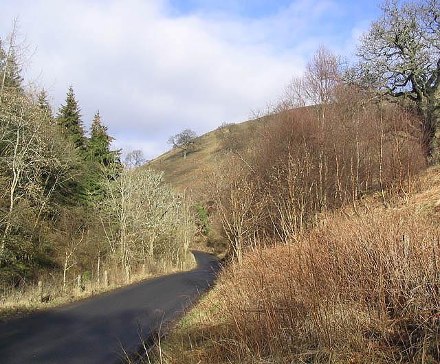 The B6339 near Stobs Castle