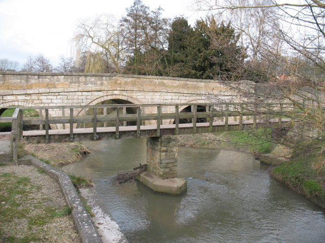 Two bridges and a beck at Aberford.
