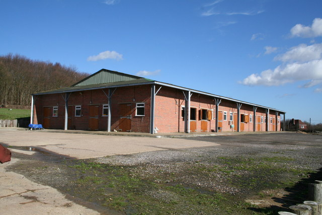 New stable block, Castle Hill Fort, near Tonbridge, Kent