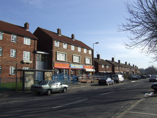 Row of shops in Leigh Park