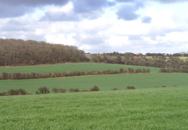 Dip slope of North Downs near Folkestone