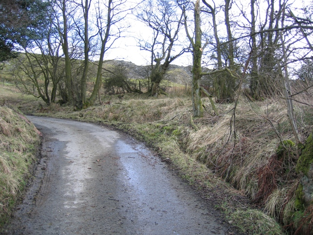 Minor Road Corner near Ty-cerrig