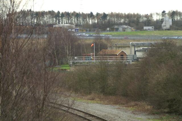 Eastern edge of sewage works