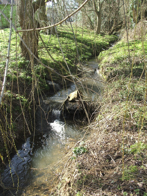 Stream flowing from Boxer's Lake to Salmon's Brook, Enfield