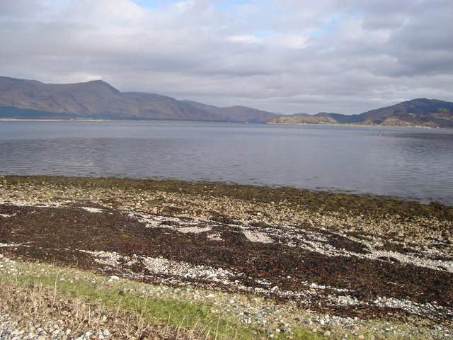 Looking north across Loch Linnhe from Crom-Roinn