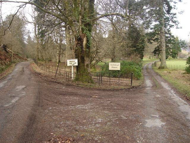 Junction near Ardsheal House