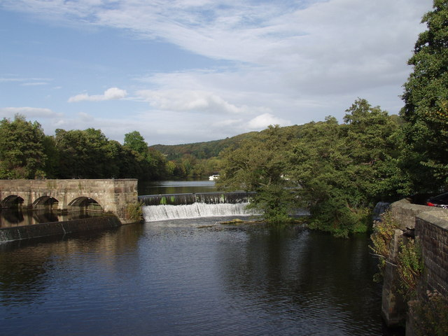 Weir on River Derwent