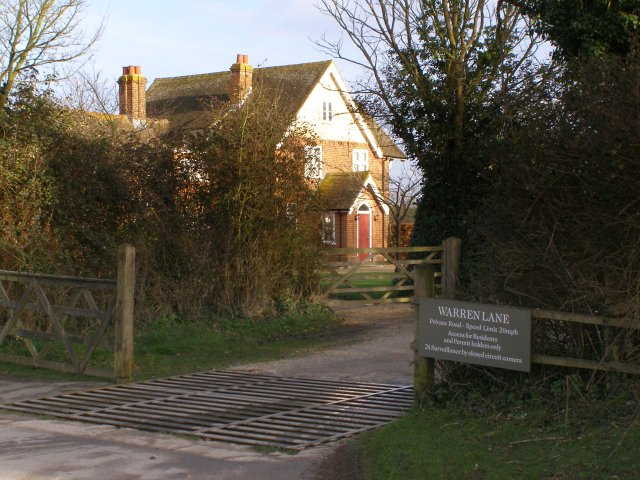 Gateway to Warren Lane, St Leonards, Beaulieu Estate