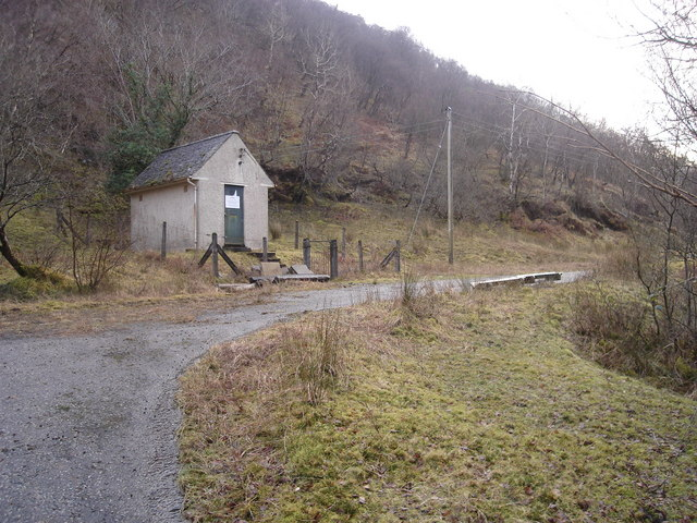 Old telecommunications repeater station by the A828