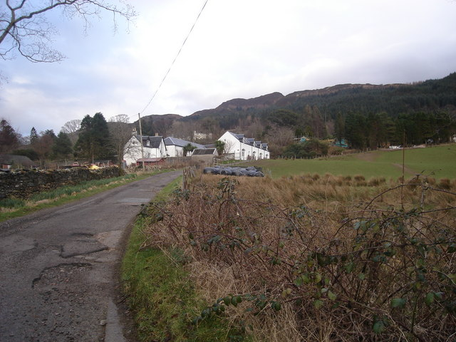 Appin Home Farm with Appin House in the trees beyond