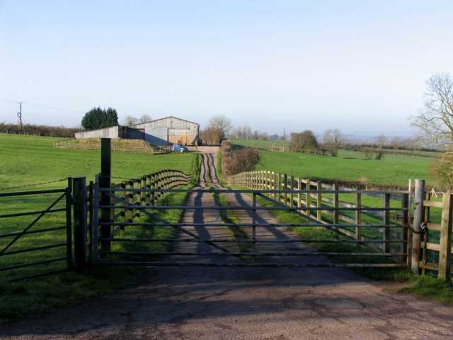 Road to some farm buildings
