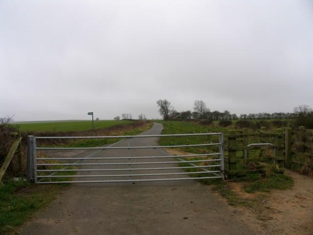 Sandy Lane towards Burrough Hill on 20 February 2007
