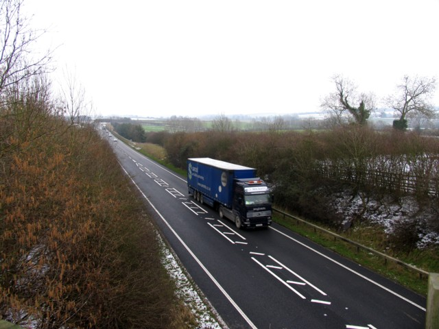 A43 road from Stamford to Corby