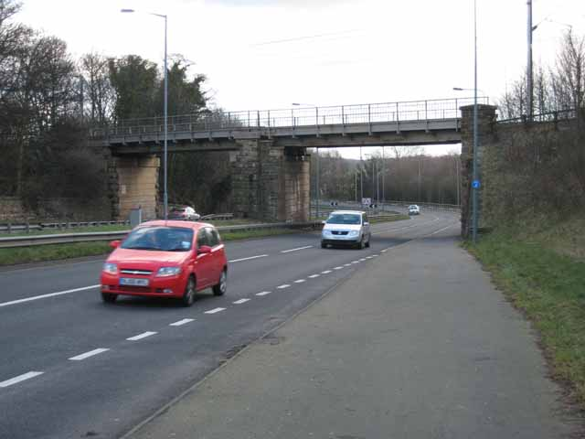 Railway bridge over the A167