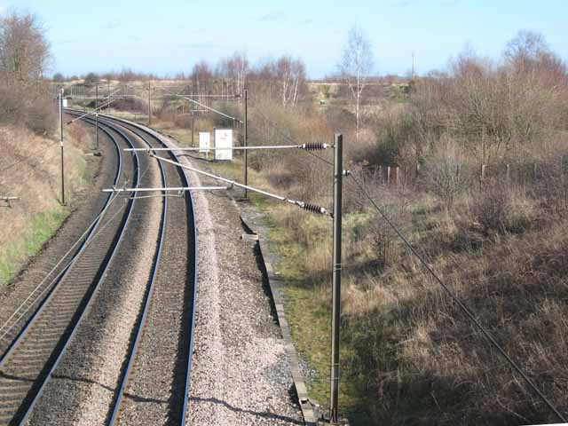 East Coast Main Line and Low Newton Junction Nature Reserve
