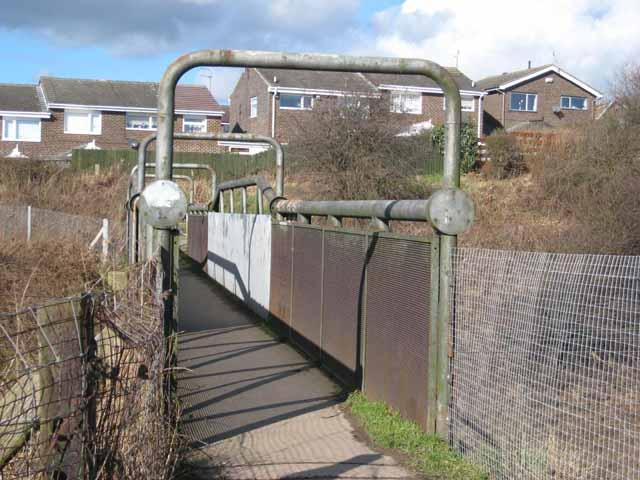 Railway footbridge at Newton Hall