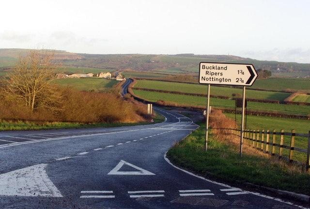B3157 near Rodden