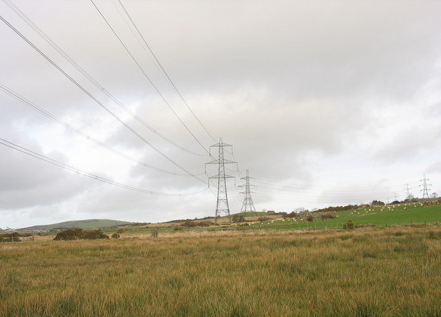 View north along the line of pylons