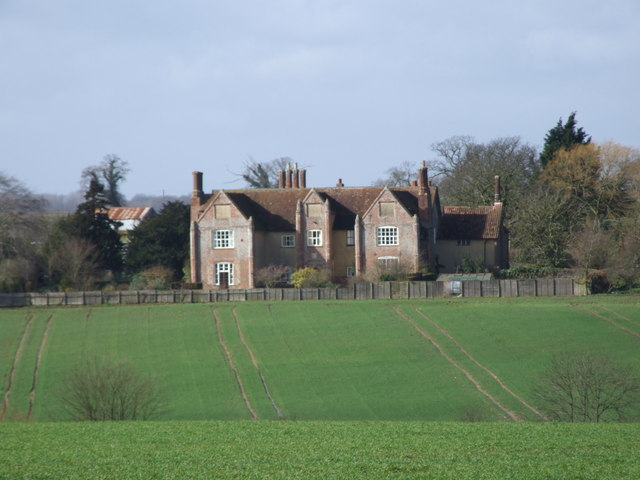 Across the Fields to Flordon Hall
