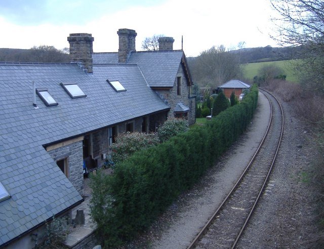 Former railway station at Lower Machen