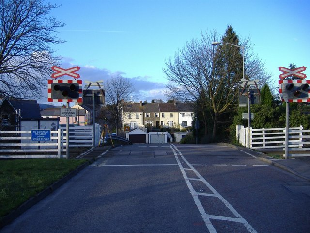Level crossing,  Rhiwderin