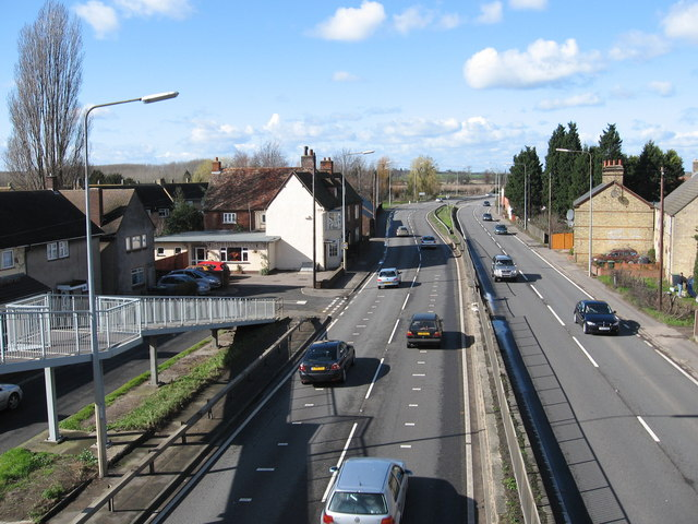 A1 looking north from footbridge