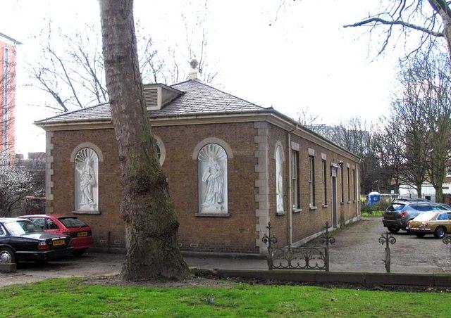 Hall next to St Mary's Church, Paddington Green, W2