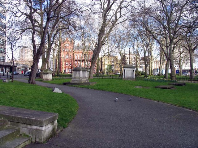 St Mary's Church, Paddington Green, W2 - Churchyard