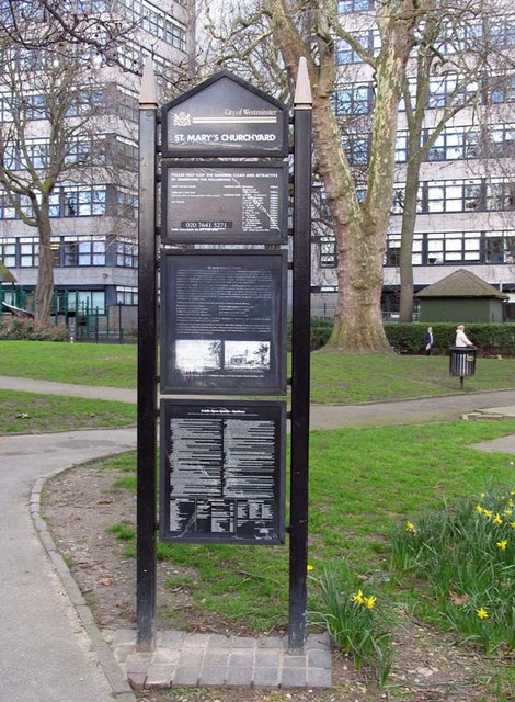 Entrance to St Mary's Churchyard, Paddington Green, W2