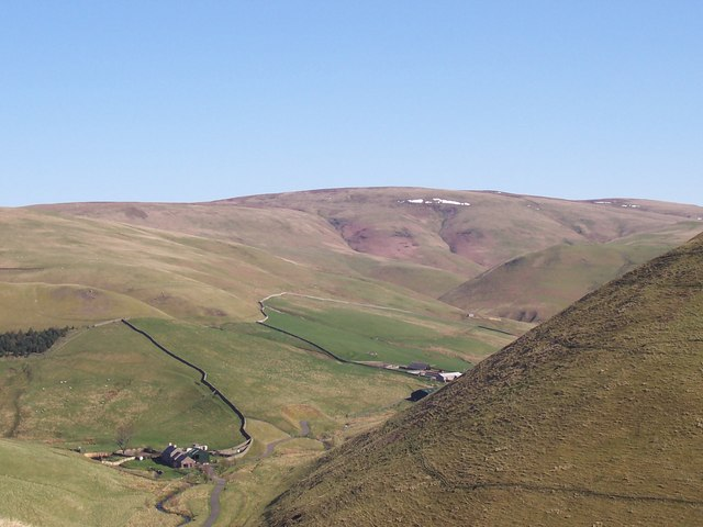 Rowhope with a distant Windy Gyle