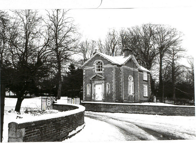 Aldby Park Gatehouse In The Snow