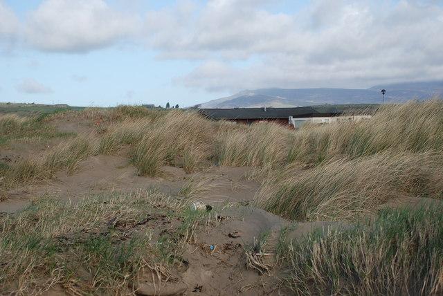Twyni a charafanau - Sand Dunes and caravans Graig Ddu Black Rock Sands