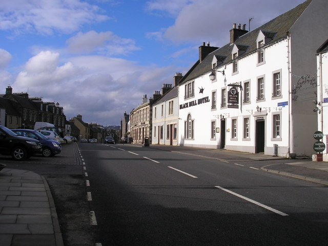 The High Street Lauder and the Black Bull Hotel