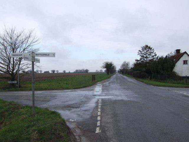 Crossroads looking towards Attleborough
