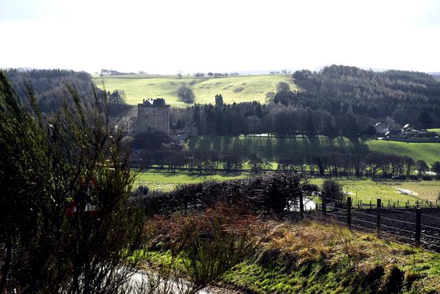Borthwick Castle from the north