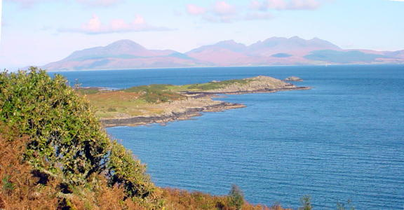 Arran viewed from above Carrick Point