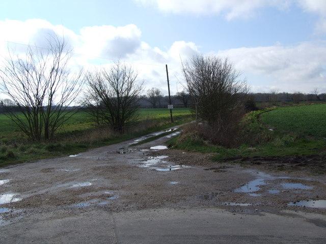Track to Old Rectory Farm, near Wreningham