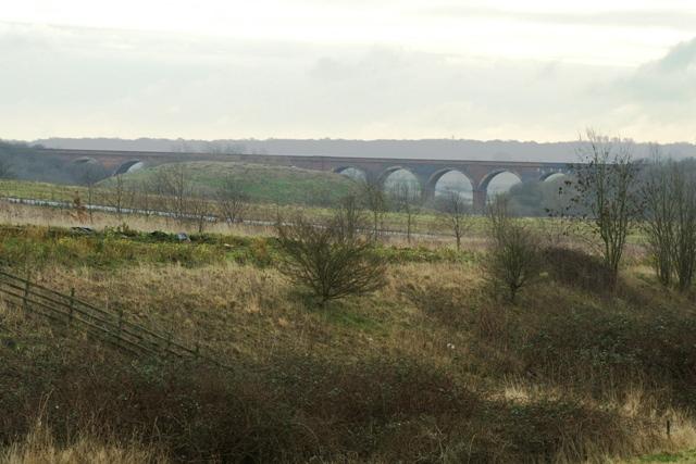 Railway viaduct near Great Oakley
