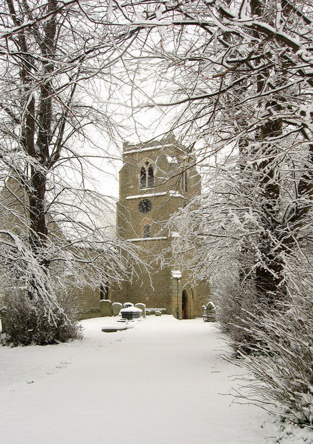 Towersey Church in the Snow