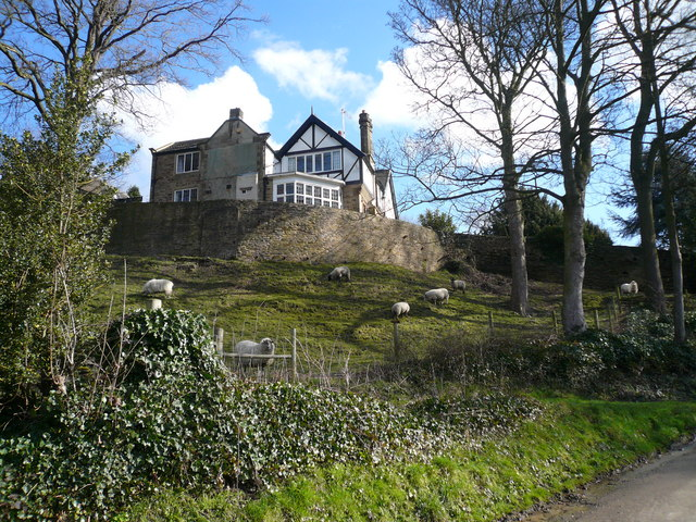 Sloade Lane - House on a Hill with Sheep